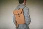 Бежевый городской рюкзак